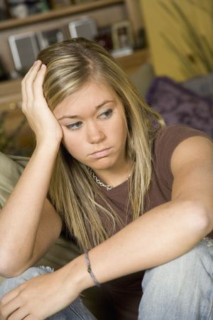 gir: Model Release 303  Depressed teenage girl