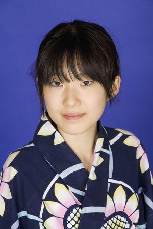 Model Release 302   Asian teen dressed in a Kimono photo