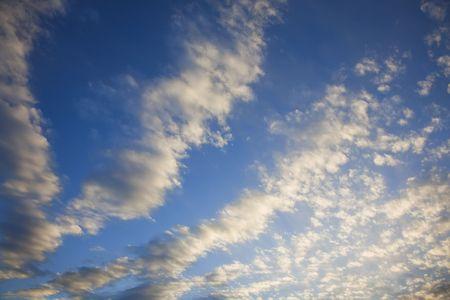 altocumulus: Altocumulus Cloud formation on a blue sky day