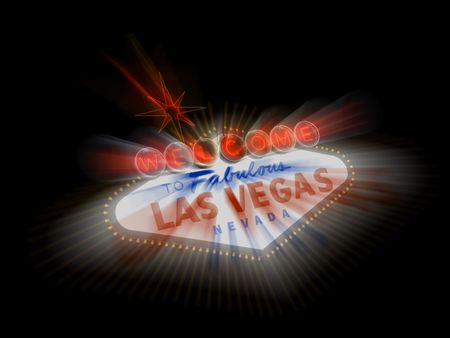 The famous Welcome to Fabulous Las Vegas sign along Las Vegas Boulevard in Nevada Stock Photo