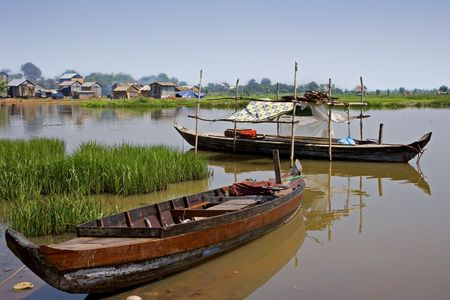 Kompong Chhang Fishing Village located  on the Tonle Sap River north of Phnom Penh, Cambodia
