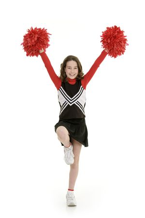 Ten year old caucasian girl dressed as cheerleader Stock Photo - 4504900
