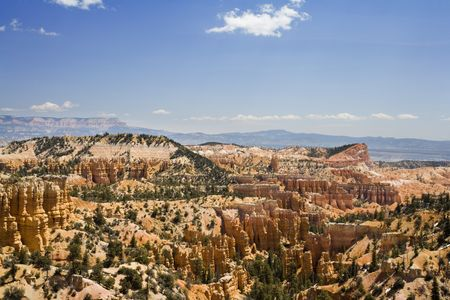 fairyland: The Hoodoo rock formations as seen from Fairyland Point in Bryce Canyon National Park Utah
