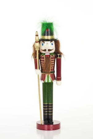 nut cracker: Christmas Nutcracker isolated on a white background