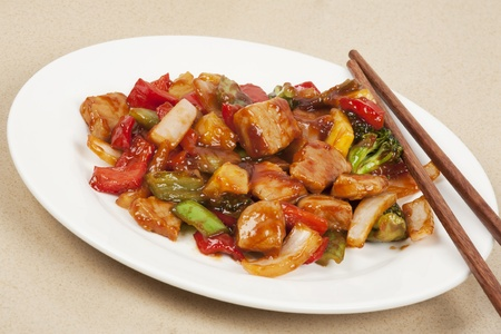 western food: A delicious meal of Sweet and Sour Pork