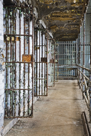 cell block: Cell block of the inside of an old prison no longer in use