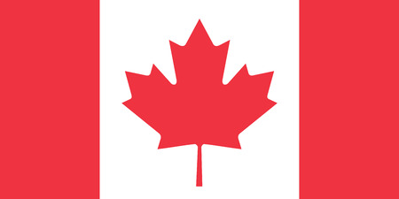 canadian icon: The official flag of Canada in both color and proportions