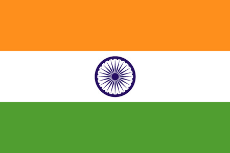 diplomatic: The official flag of the Republic of India is both color and proportions. Also known as the Tiranga