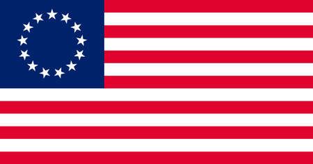 specifications: The Besty Ross Flag of the United States of America made to goverment specifications in both color and proportions