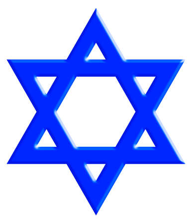 magen: The Star of David, known in Hebrew as the Shield of David or Magen David. It is a generally recognized symbol of modern Jewish identity and Judaism. With Clipping Path