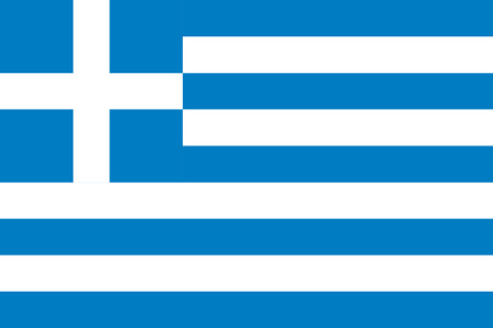 proportions: The official flag of Greece in both color and proportions