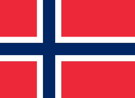 norway flag: The official flag of the Kingdom of Norway in both color and proportions Illustration