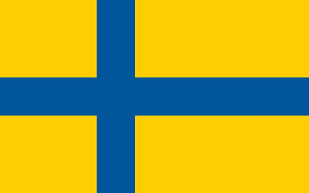 proportions: An illustration of the official flag of Sweden in both color and proportions