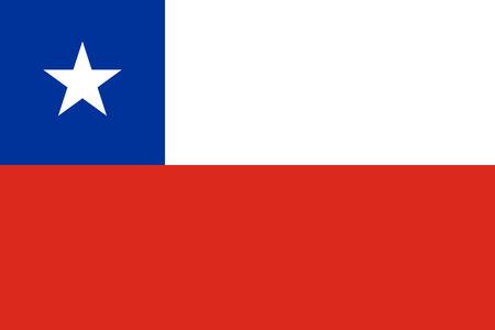 bandera de chile: La bandera oficial de Chile, tanto en el color y las proporciones Vectores