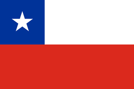 chile flag: The official flag of Chile in both color and proportions