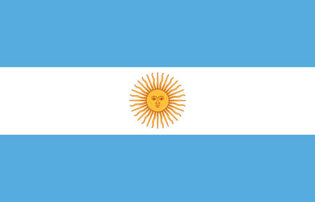 argentine: The Illustration of the Argentine Republic flag