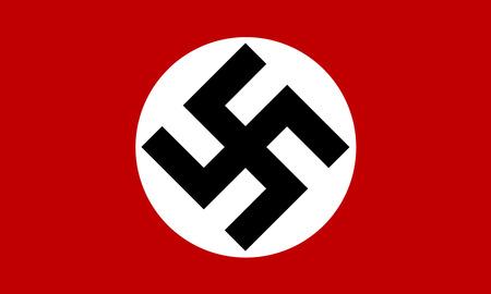 adolf hitler: Illustration of a Nazi Germany flag