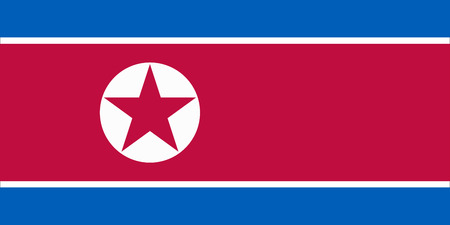 republic of korea: The official flag of the Democratic Peoples Republic of Korea in both color and proportions
