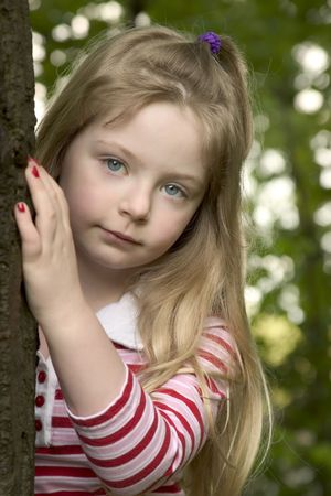 innocense: Young girl outside 1