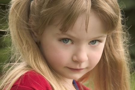 Young girl outside 1