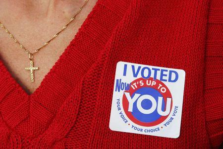 głosowało: Kobieta w głosowaniu Zdjęcie Seryjne