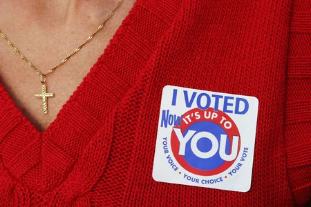 Woman voted Stock Photo - 340680