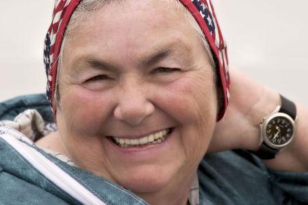 bashful: woman smiling Stock Photo