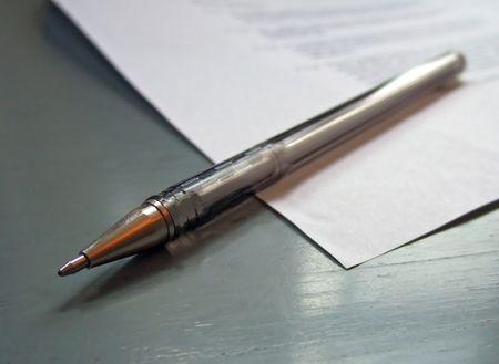 biro: pen and paper