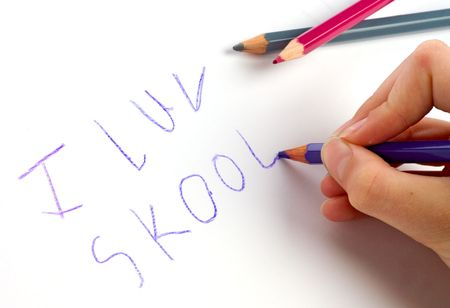 garabatos: Amo la escuela (luv Skool de I)