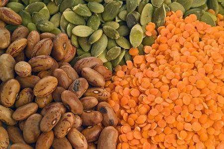lentils: Frijoles y lentejas