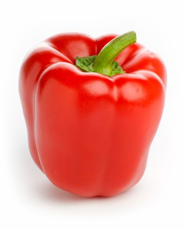 edging: Red Pepper - high-key studio image, pure white edging