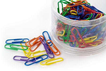 hasp: Colored paper clips