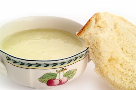 slurp: Bowl of fresh soup and newly baked bread