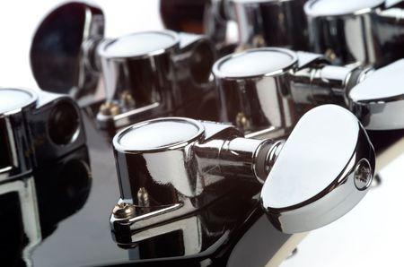 Chrome guitar machine head photo