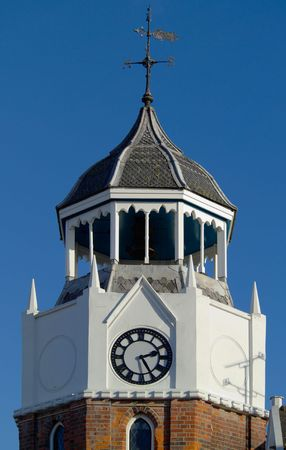 burnham: Fine clock and bell tower in Burnham, England