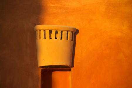 colrful: Colrful lamp holder in evening sun