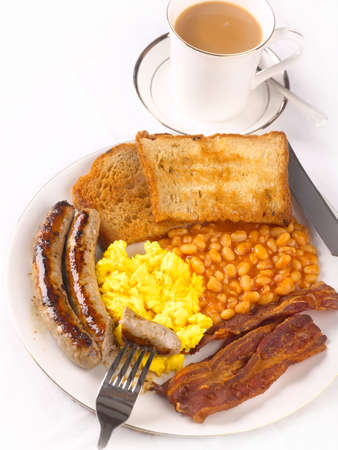 bacon baked beans: A big English Fried breakfast