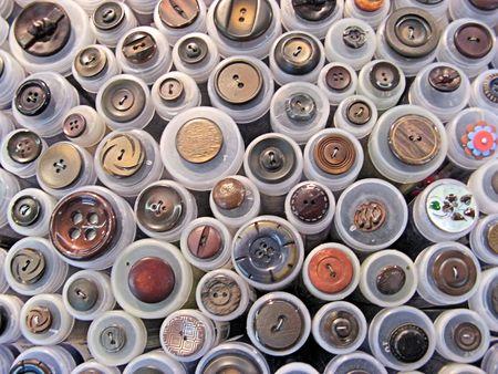 primitivism: Close-up of var. buttons Stock Photo