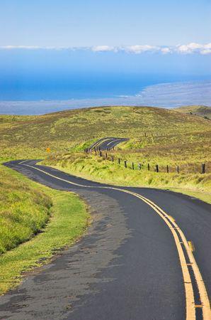 Saddleback Road on The Big Island, Hawaii. Stock Photo