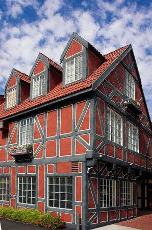 danish: Danish style building in Solvang, California