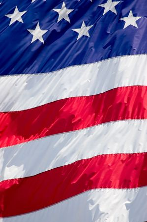Tightly cropped background photo of the American flag. Stock Photo