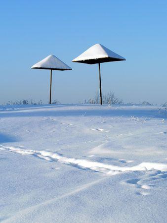 Beach  a winter season. photo