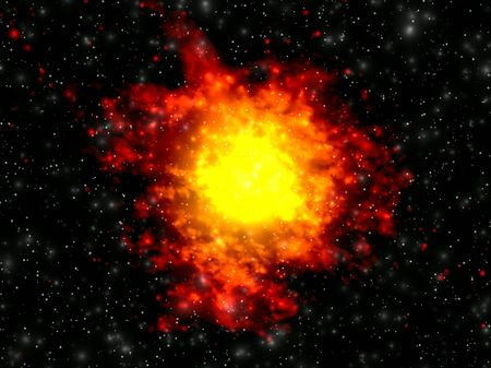 Explosion in space. Background