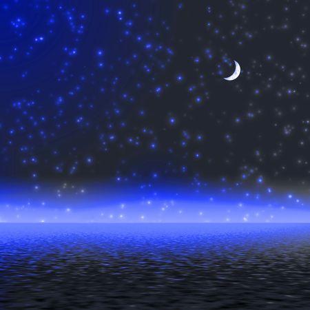 Night. Mystical moon light. Stock Photo - 387708
