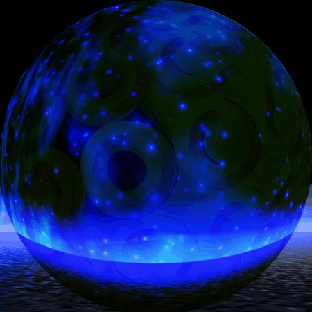 Night. Mystic sphere Stock Photo - 387705