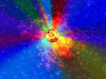 Space. Solar photo