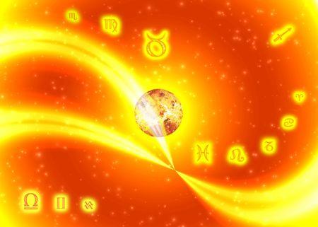 Sunny symbols zodiac photo