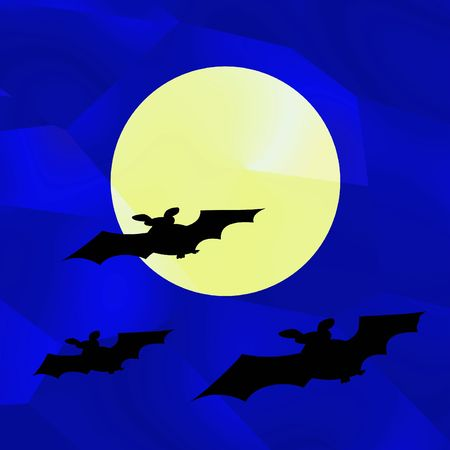 Bats on a background of the moon photo