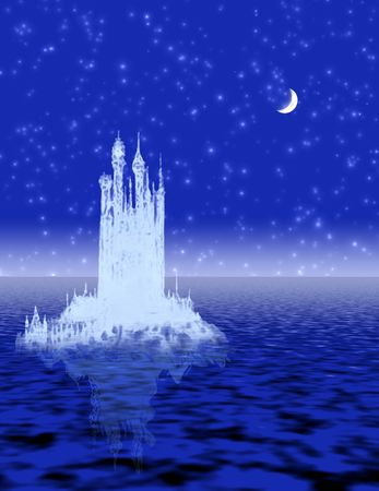 night vision: Castle in the ice.