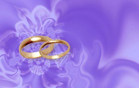 Anillos de boda. Lila abstracción tarjeta de invitación  Foto de archivo - 401307